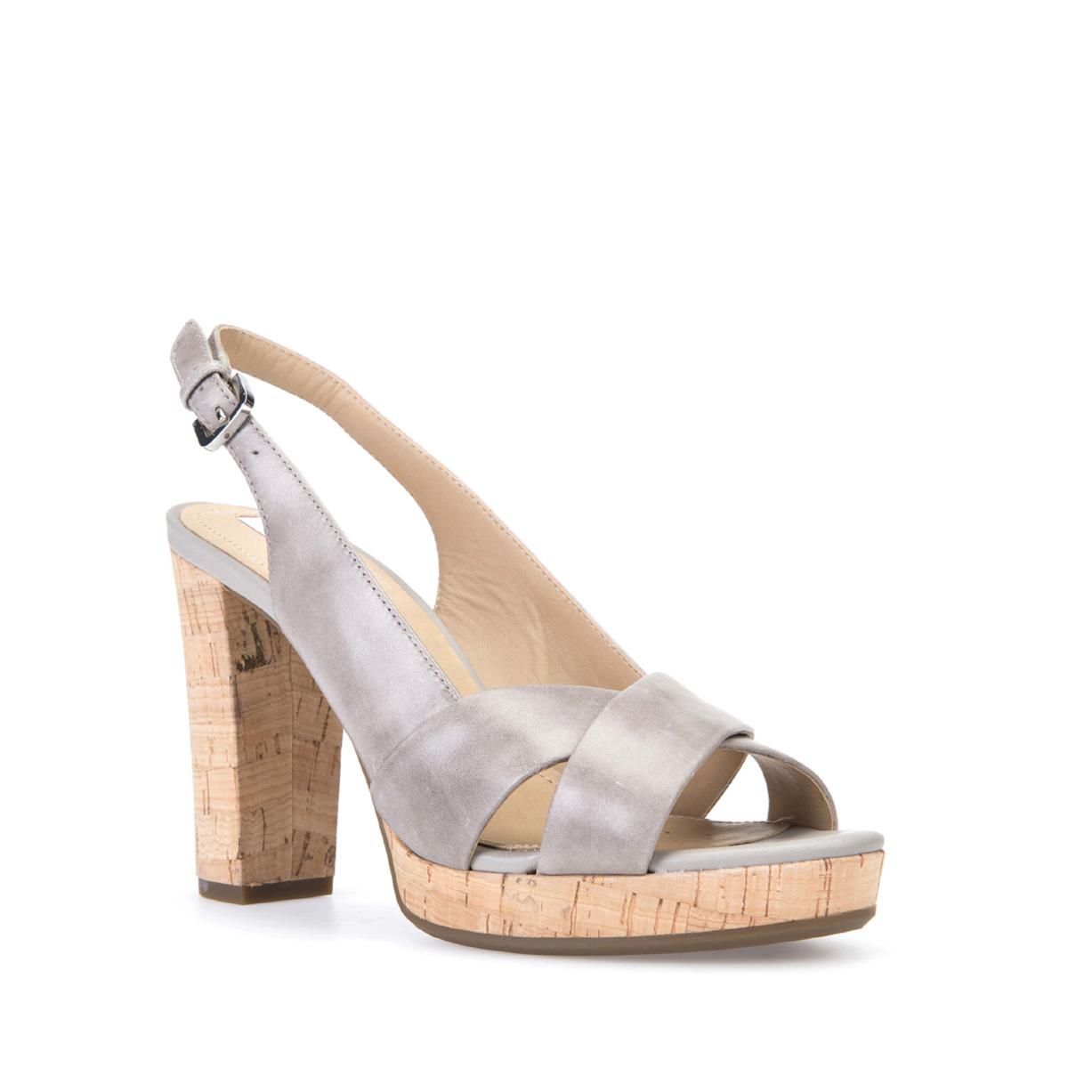 Sandalo con tacco in sughero Geox estate 2017