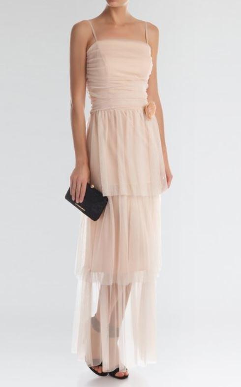 Abito lungo color rosa cipria Rinascimento estate 2017 prezzo 129 euro