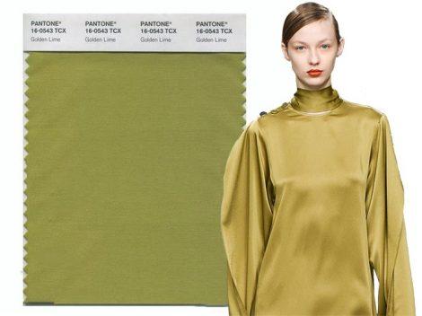 Giallo Golden Lime colore moda Pantone autunno inverno 2017 2018