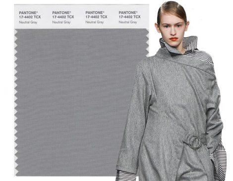 Grigio Natural Gray colore moda Pantone autunno inverno 2017 2018