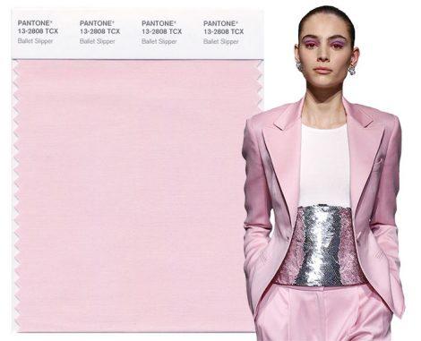 Rosa Ballet Slipper colore moda Pantone autunno inverno 2017 2018