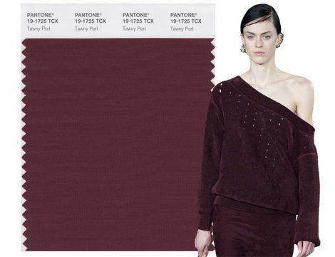 Rosso Twany Port colore moda Pantone autunno inverno 2017 2018