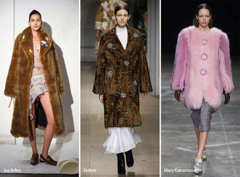 Cappotti in ecopelliccia tendenza moda autunno inverno 2017 2018