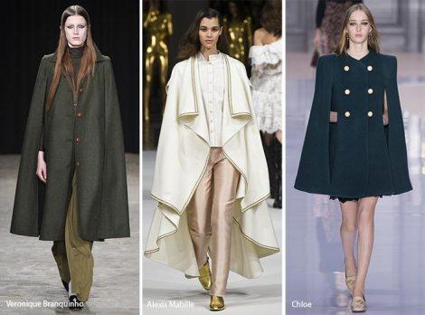 Giacche e cappotti modello cappa moda autunno inverno 2017 2018