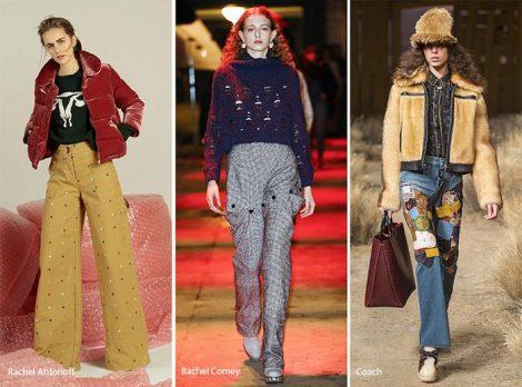 Pantaloni a vita alta moda abbigliamento autunno inverno 2017 2018