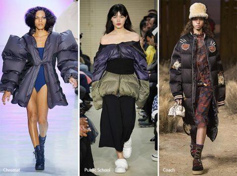 Puffer Coats moda abbigliamento donna autunno inverno 2017 2018