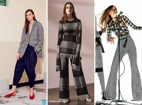 Stampa plaid moda abbigliamento donna autunno inverno 2017 2018