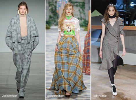 Stampe a quadri moda abbigliamento donna autunno inverno 2017 2018