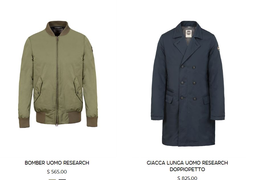 Bomber e cappotto imbottito Colmar collezione inverno 2017 2018 uomo