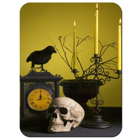 Decorazioni Addobbi Halloween teschio corvo e candelabro