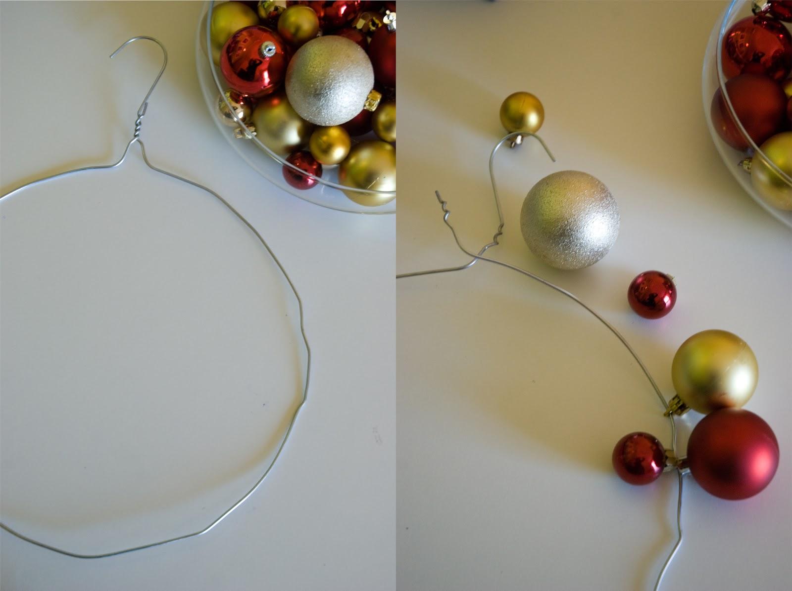 Facile idea ghirlanda natalizia fai da te economica