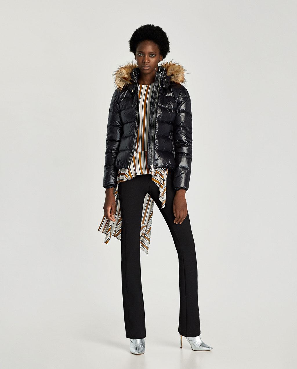 Giaccone imbottito Zara inverno 2017 2018 prezzo 69 95 euro