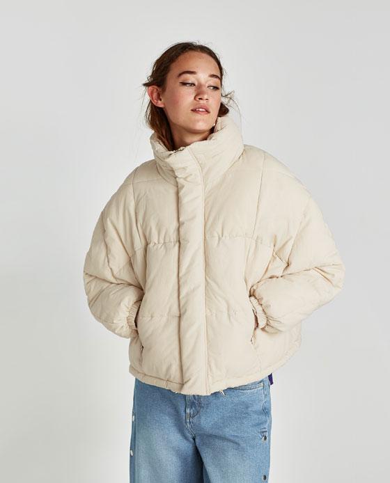 Piumino corto oversize Zara prezzo 59 95 euro
