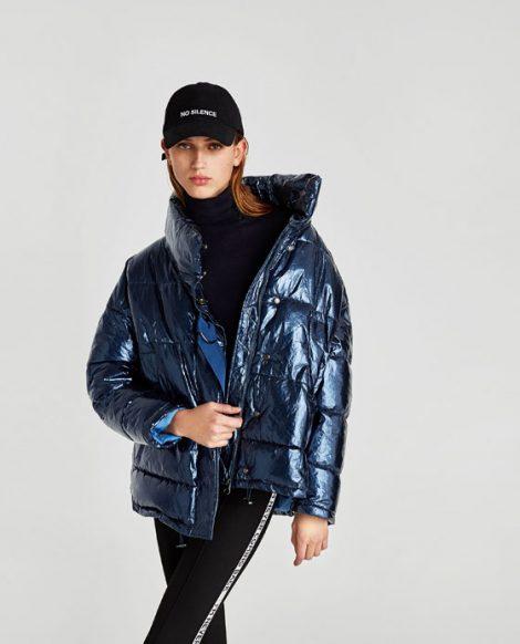 Piumino lucido Zara inverno 2017 2018 prezzo 69 95 euro