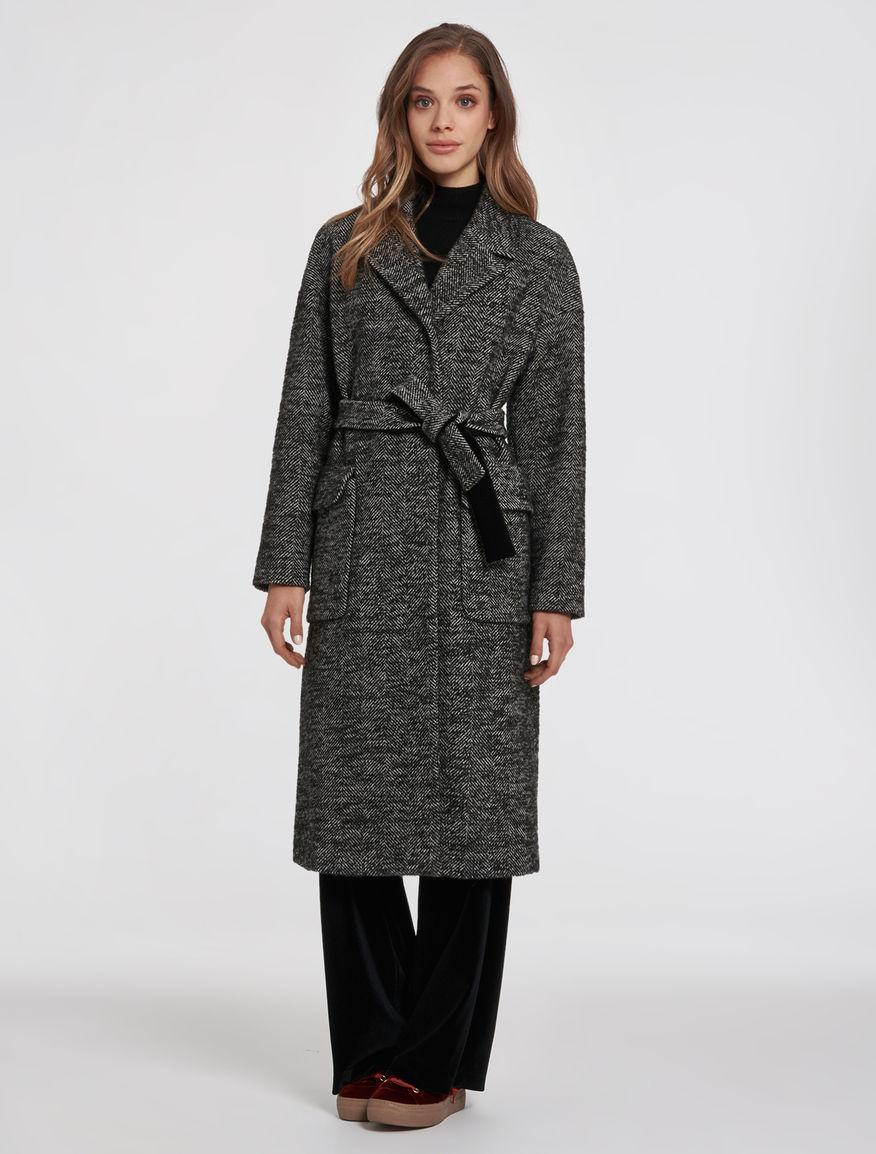 Cappotto a vestaglia in tweed Pennyblack prezzo 315 euro