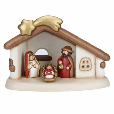 Nuovo Presepio Thun Natale 2017 Set Capanna e Sacra Famiglia