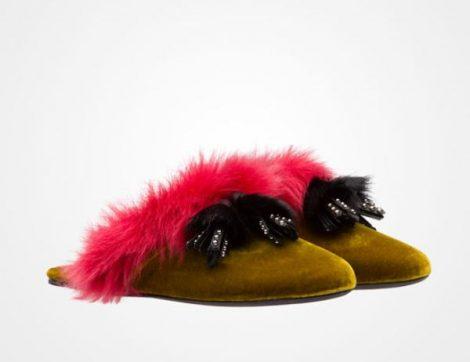 Pantofole in velluto Prada inverno 2017 2018 prezzo 590 euro