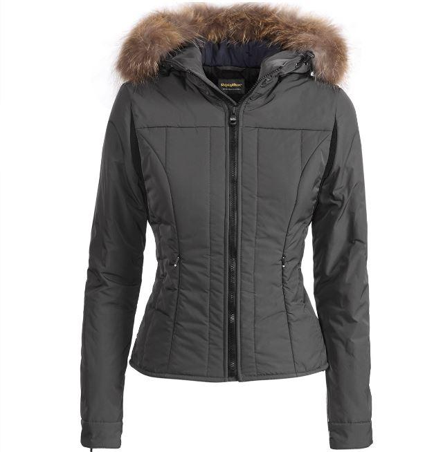 Piumino corto donna Refrigiwear modello Cloe Fur prezzo 285 euro