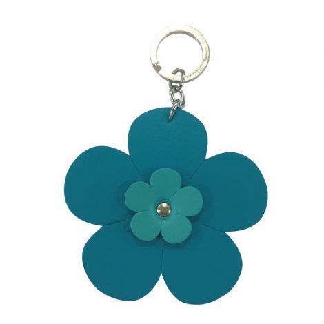 Portachiavi O bag a forma di Fiore colore Acqua