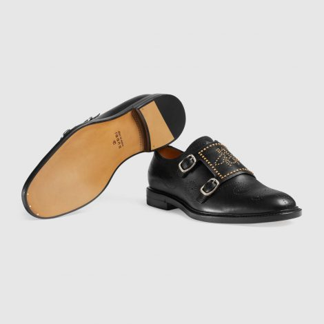 Scarpa elegante Gucci uomo con doppia fibbia prezzo 890 euro inverno 2018