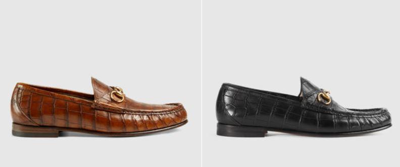Scarpe Mocassino Uomo Gucci in coccodrillo prezzo 2200 euro