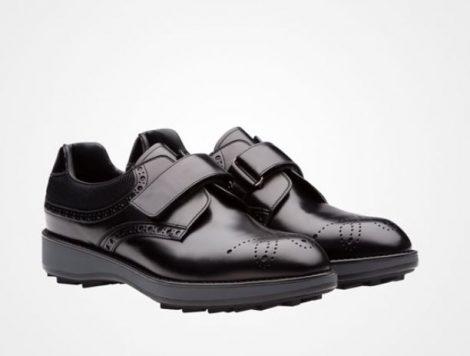 Scarpe francesine con velcro Prada prezzo 620 euro