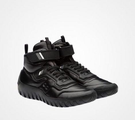 Sneakers alte Prada uomo prezzo 570 euro inverno 2017 2018