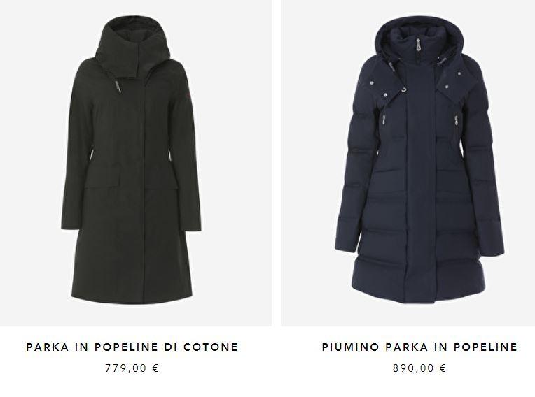 Giacconi lunghi donna Peuterey nuova collezione invernale 2017 2018