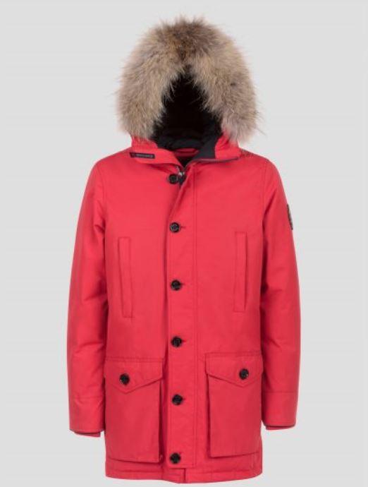Parka Museum Uomo Ontario Inverno 2017 2018 Rosso