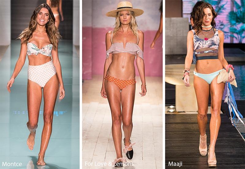 Bikini con top e slip di fantasie diverse moda estate 2018