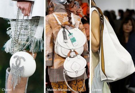 Borse bianche moda primavera estate 2018