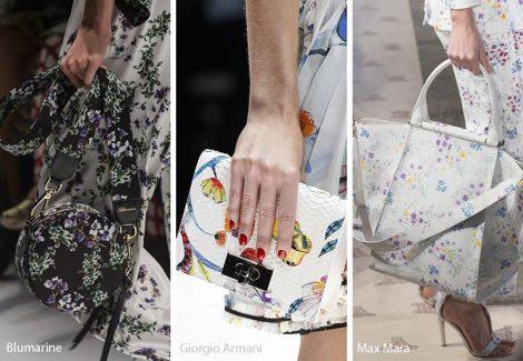 Borse con stampe floreali moda primavera estate 2018