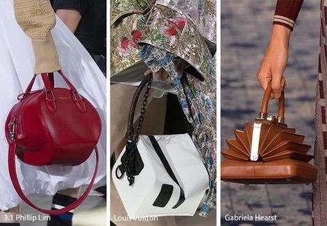 Borse dalle forme geometriche moda primavera estate 2018