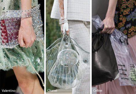 Borse trasparenti moda primavera estate 2018