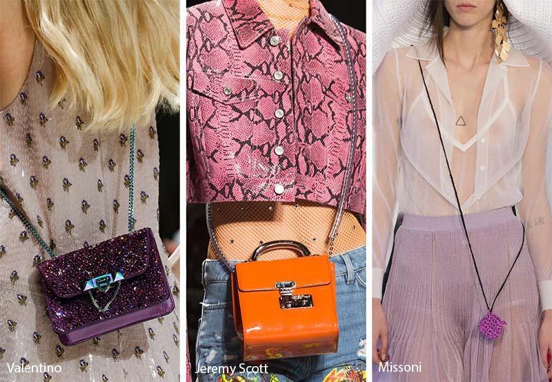 Mini bag a tracolla moda estate 2018