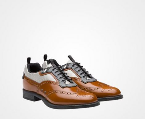 Nuove scarpe francesine Prada uomo primavera estate 2018 prezzo 620 euro