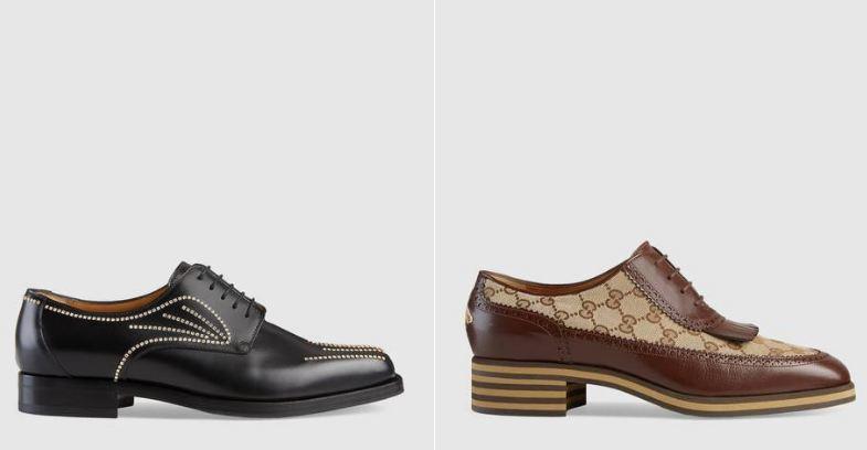 Nuove scarpe stringate Gucci uomo collezione primavera estate 2018