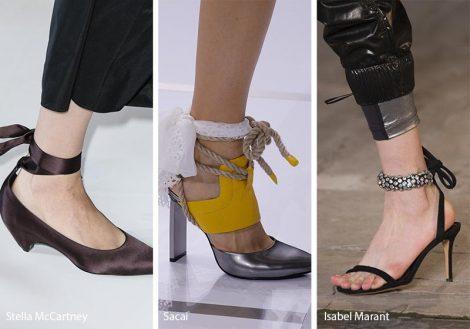 Sandali allacciati alla caviglia moda estate 2018