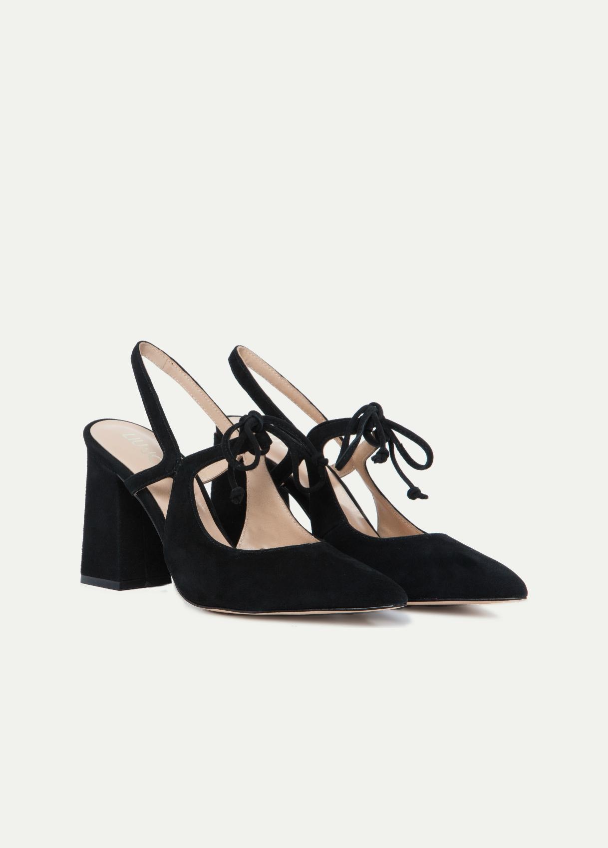 Scarpe con tacco quadrato Liu Jo primavera estate 2018 prezzo 169 euro