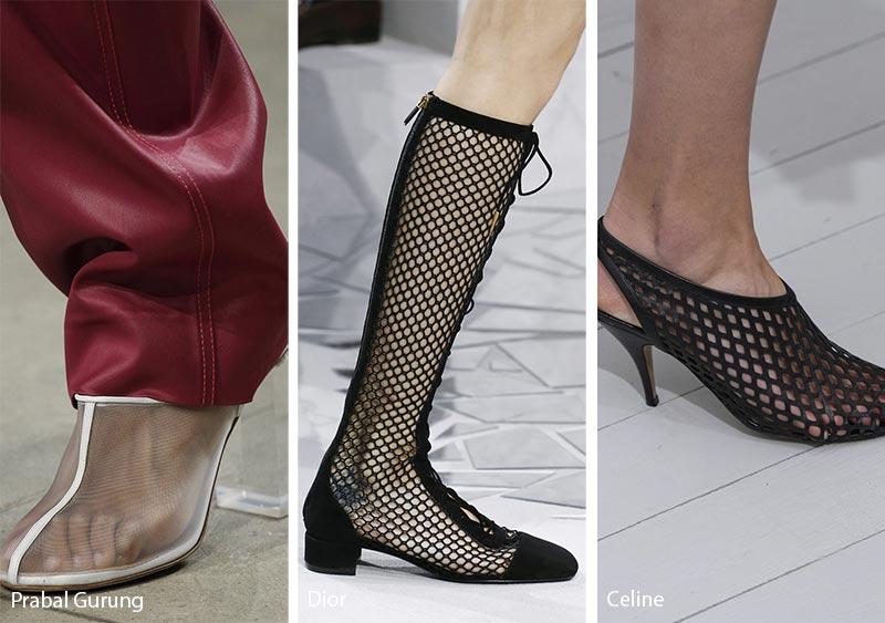Scarpe e sandali con dettagli in rete moda primavera estate 2018