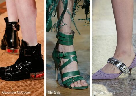Scarpe e sandali con fibbie moda primavera estate 2018