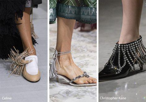 Scarpe e sandali con frange moda primavera estate 2018