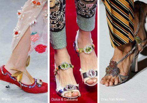 Scarpe e sandali gioiello moda primavera estate 2018