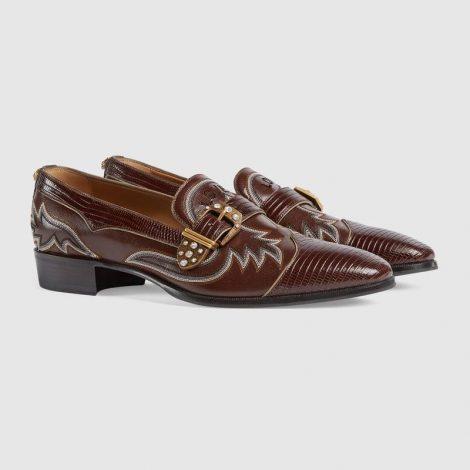 Scarpe in pelle di lucertola Gucci uomo prezzo 1590 euro