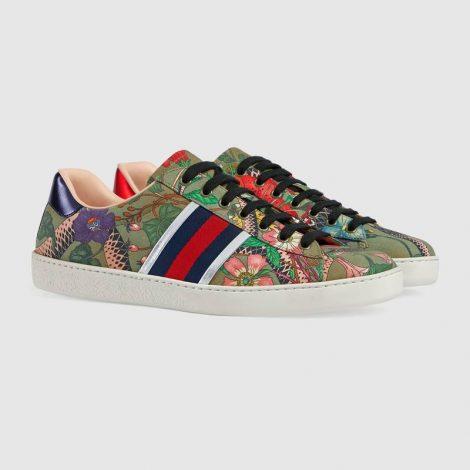 Sneakers Gucci Ace Flora Snake estate 2018 prezzo 460 euro
