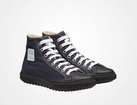 Sneakers alte in denim Prada uomo prezzo 495 euro