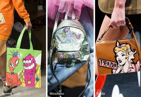 Tendenza Moda primavera estate 2018 Cartoon Bags