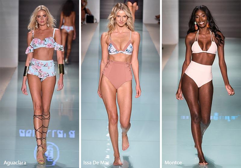 Tendenze Costumi da bagno estate 2018 bikini con slip a vita alta