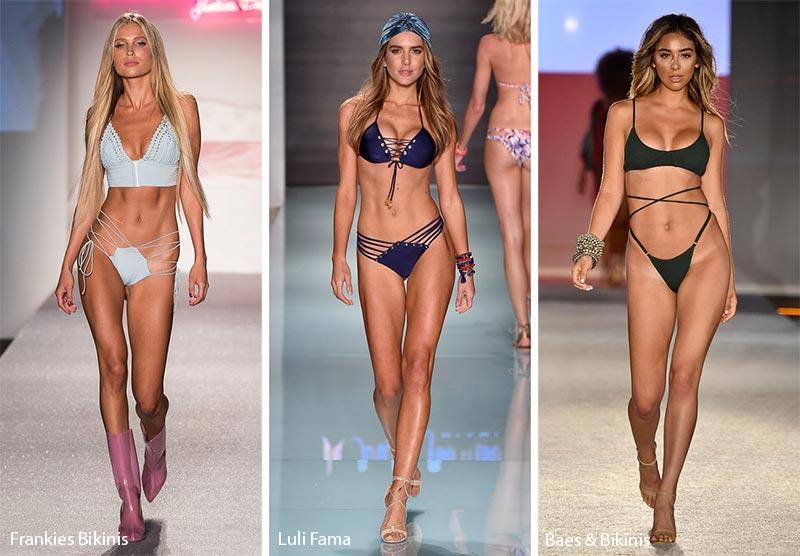Tendenze Costumi da bagno estate 2018 sexy bikini stringati