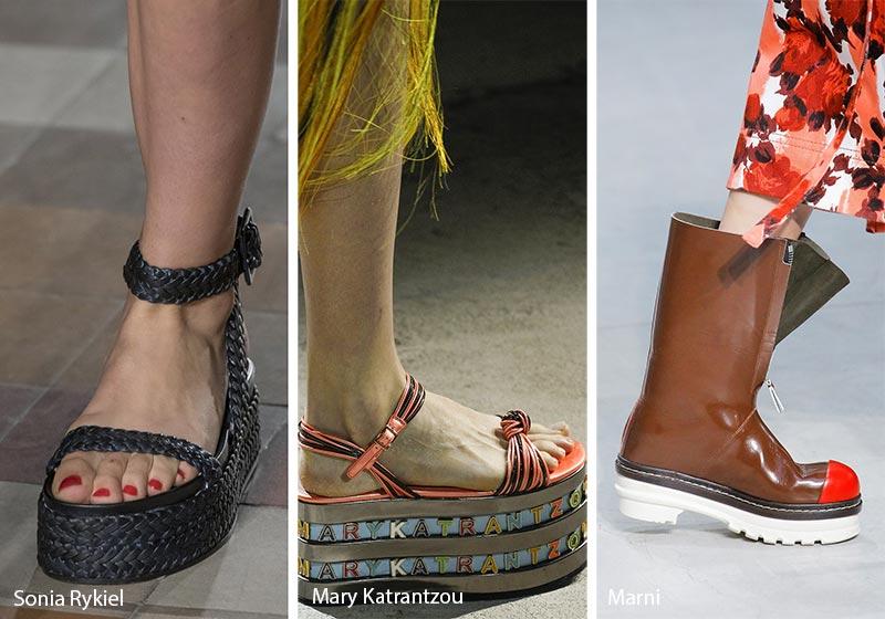 Tendenze Moda scarpe e sandali con suola platform primavera estate 2018